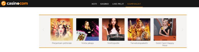 Casino.comin tarjoukset